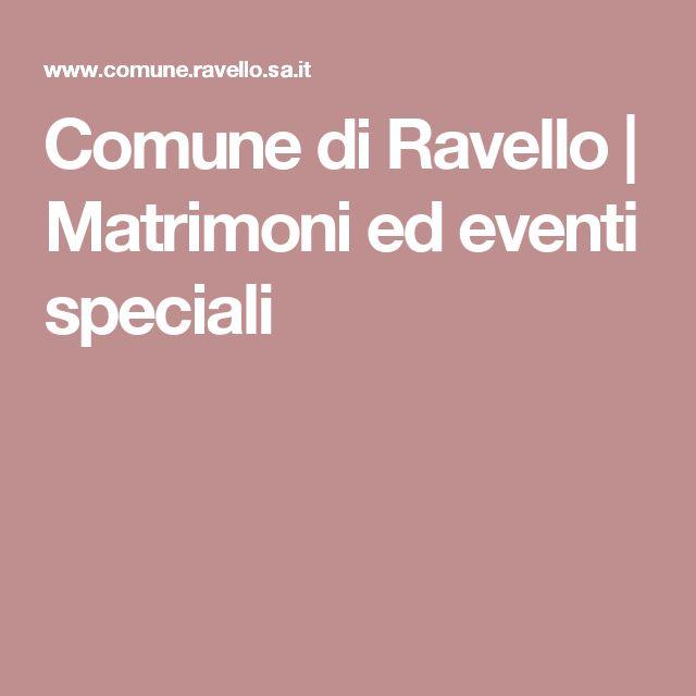 Comune di Ravello | Matrimoni ed eventi speciali