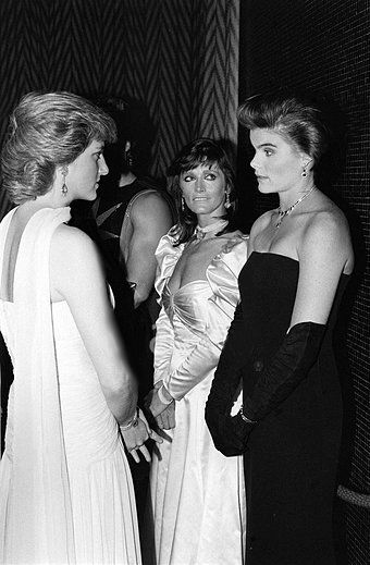 1987-07-11 Diana meets Margot Kidder and Mariel Hemingway ...