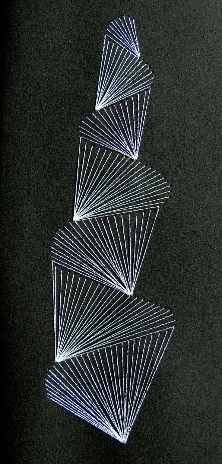 Borduren op papier, embroidery on paper                              …