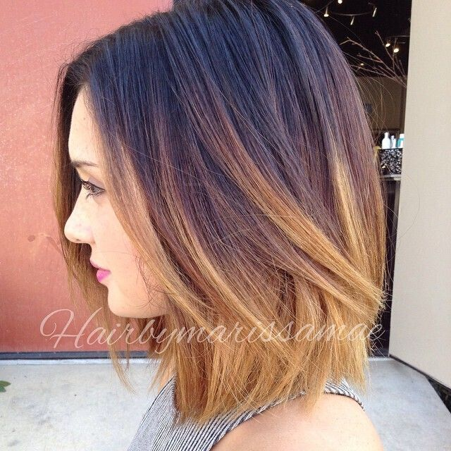 Ombre Bob Haircut: Blonde with Black Color - http://jackravenbooks.com/wp/index.php/2015/07/30/the-x-factor-code-revolutionary-sex-appeal-intensification-system-2/