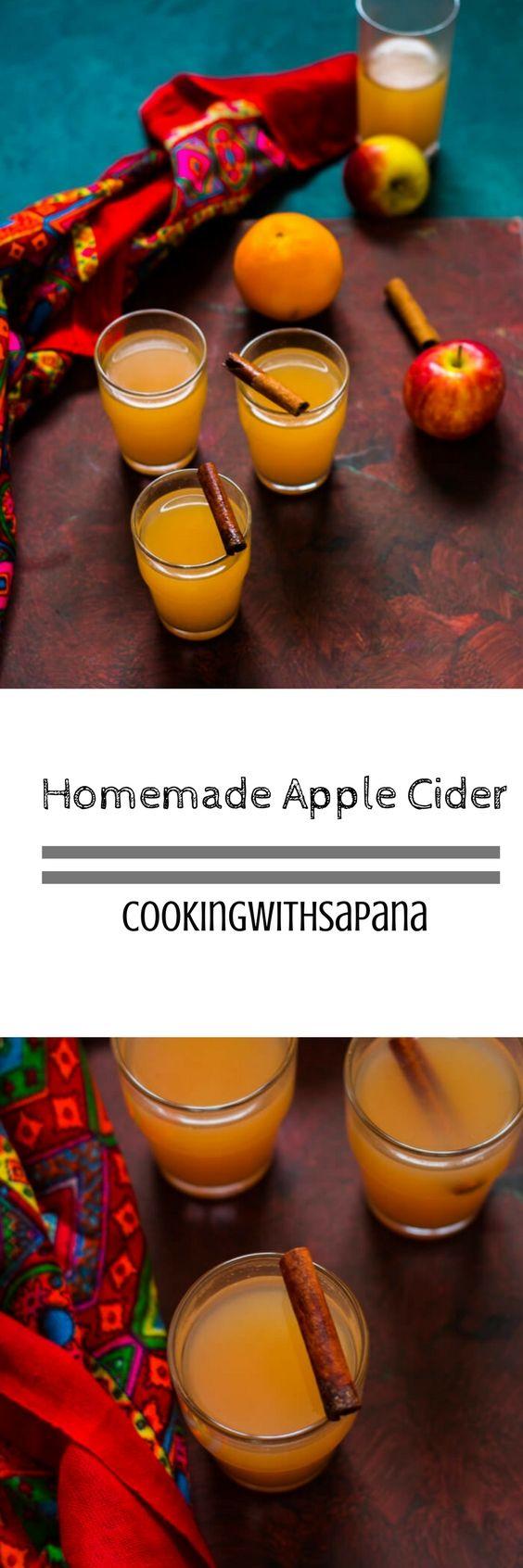 Homemade Apple Cider - CookingWithSapana