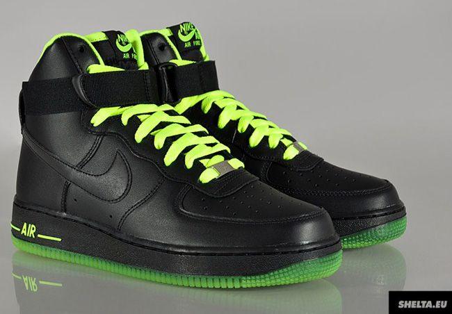 Nike Air Force 1 Green Black ukpinefurniture.co.uk 2bc46d1ae5ae