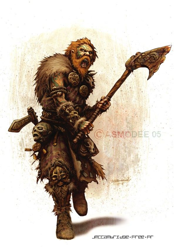 Caveman Concept Art : D berserker google search barbarians human male