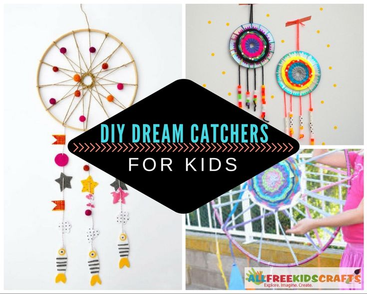 7 Colorful DIY Dream Catchers for Kids | With these modern dream catcher DIY ideas, your kids can create the room decoration of their dreams.