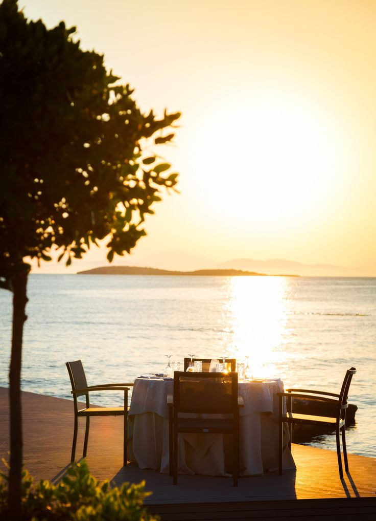 We can't get enough of our waterfront views at Mythos by Divani Restaurant