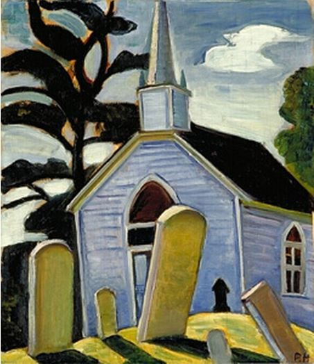 The Blue Church, Prescott painted by Prudence Heward, 1933 Follow the biggest painting board on Pinterest: www.pinterest.com/atelierbeauvoir