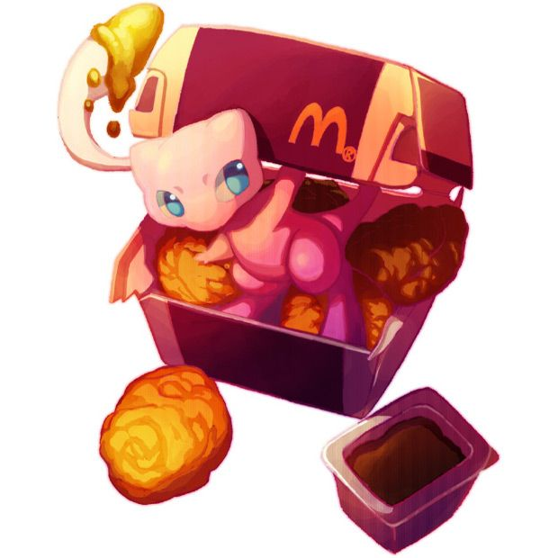 Pokemon Mcdonalds Crossover Mew Legendary Mcnuggets Sauce Ronald Macdonald Humour Pinterest