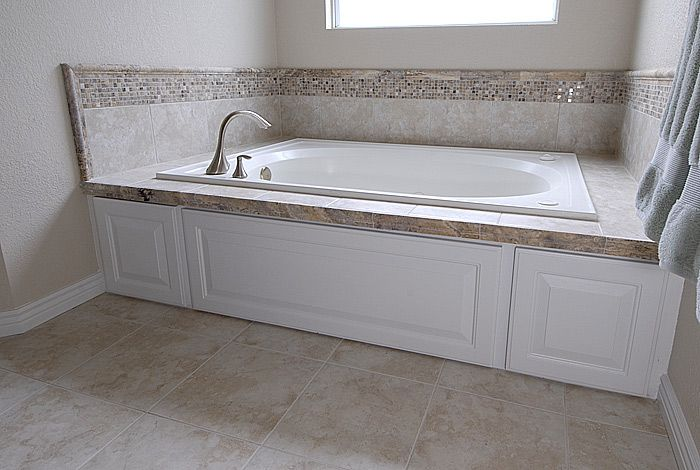 tile around bath tubs | Bathroom Tile Ideas - Travertine Tub Surround