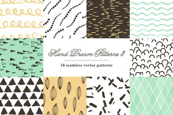 Check out Hand Drawn Patterns 3 by spacelab on Creative Market