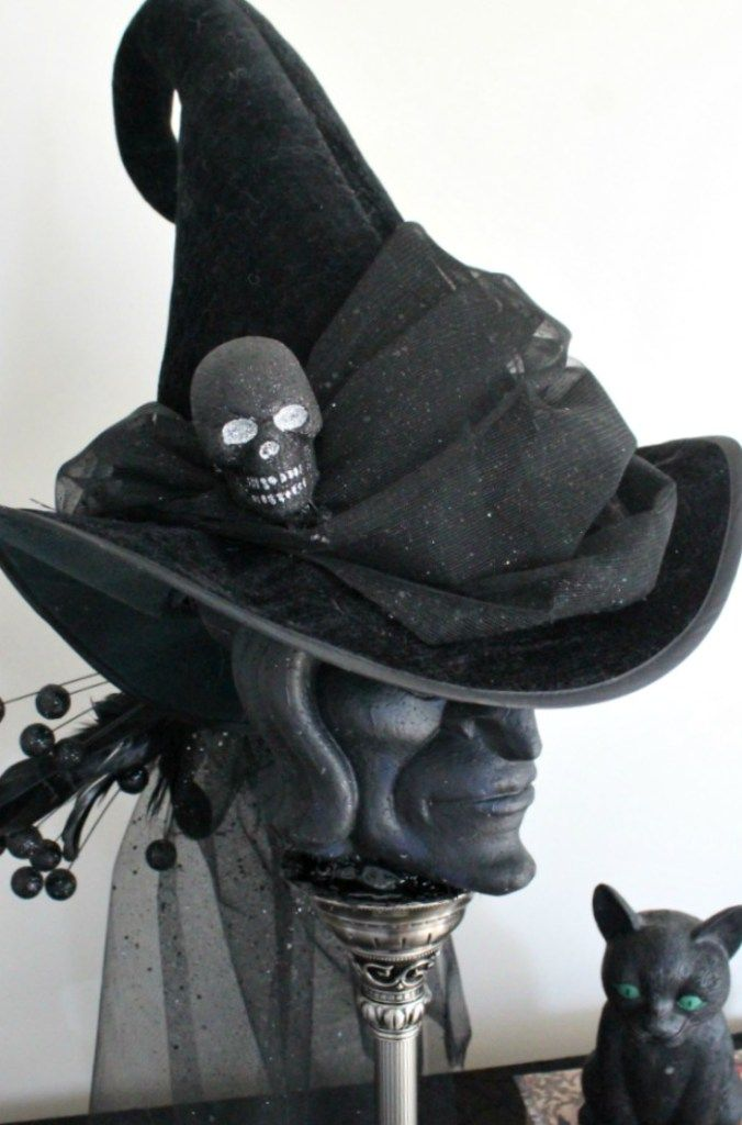 How To Make A Pretty Witches Hat For Halloween A Fancy Diy Witch Hat Tutorial Faeriesandfauna Halloween Halloweendec Witch Costume Diy Witch Diy Witch Hat