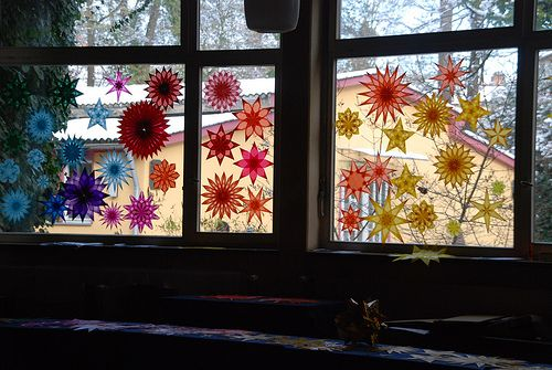 Stars. i am inspired! i will work on my own star window tomorrow!