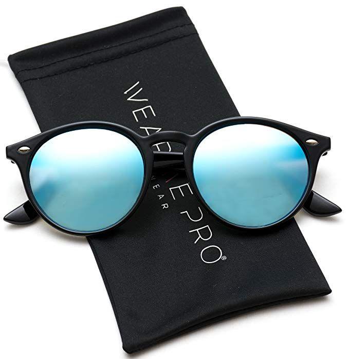 ffe9f9ee31421 WearMe Pro - Classic Small Round Retro Sunglasses