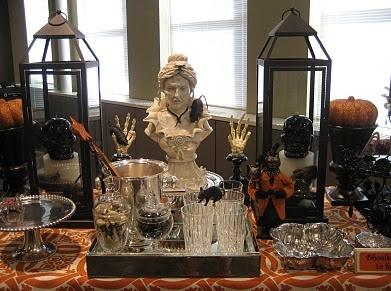halloween candy buffet - Victorian Halloween Decorations