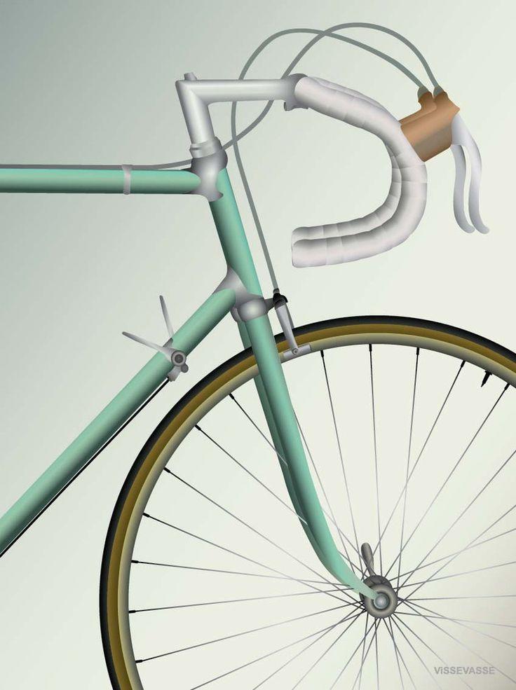 RACING BICYCLE - plakat
