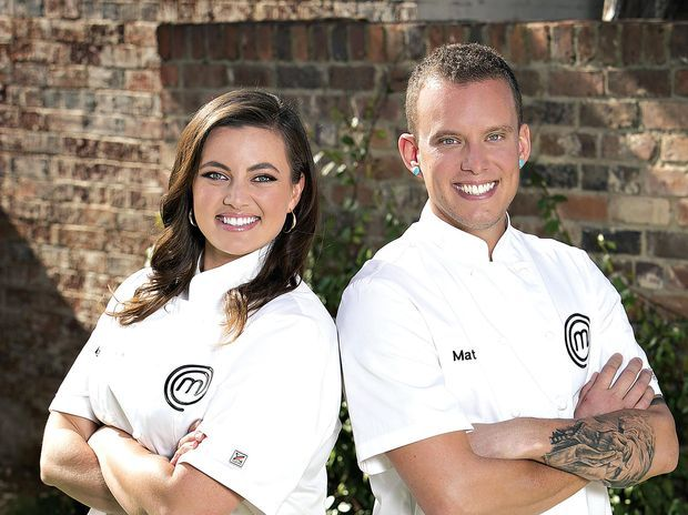 COOK OFF: Noosa coffee roaster Matt Sinclair and teacher Elena Duggan will battle it out in the MasterChef finals.