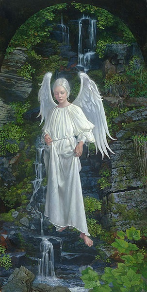 'Living Water' by James Christensen:::hey fellow ANGEL lovers! i started ANGELS 2, this board is full. Please see new pins there and please have patience with me as I switch some over! Thanks and blessed be