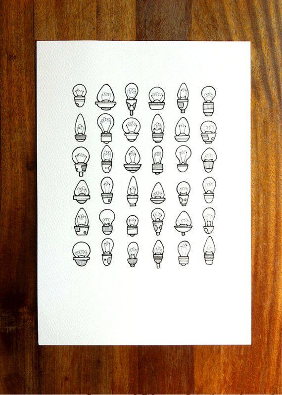 original illustration  'brighten'  hand drawn di lightboxing
