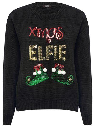 Xmas elfie sequin jumper