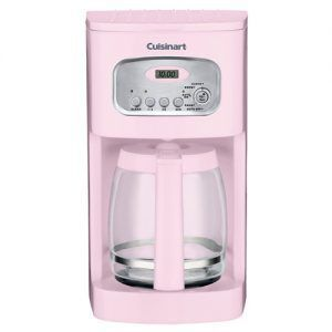 You're young and in love! This coffeemaker will give your kitchen a fresh look with its pink complexion. But that's not the end of it. This coffeemaker is completely programmable, self-cleaning and designed with stainless steel so you won't have to think about struggling to get a nice cup of coffee anymore.