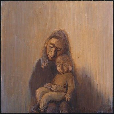 Celia Paul ~ Kate and Molly, 1998 Oil on canvas 71.5 x 71.5 cm