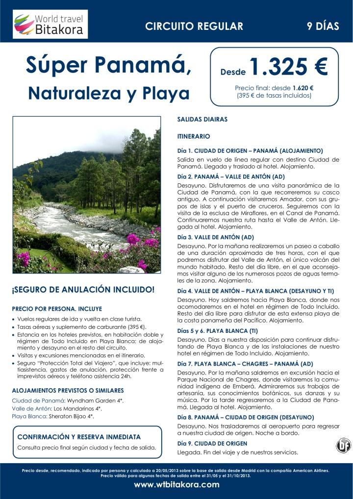 Súper PANAMÁ, Naturaleza y Playas: Ciudad de Panamá, Antón y Chagres, desde 1.325 € + tasas - http://zocotours.com/super-panama-naturaleza-y-playas-ciudad-de-panama-anton-y-chagres-desde-1-325-e-tasas/