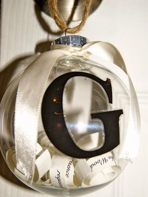 DIY Wedding Invitation Christmas Ornament