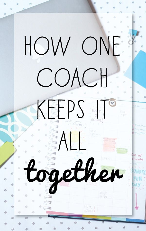A little story of how one coach stays organized www.mshouser.com/...