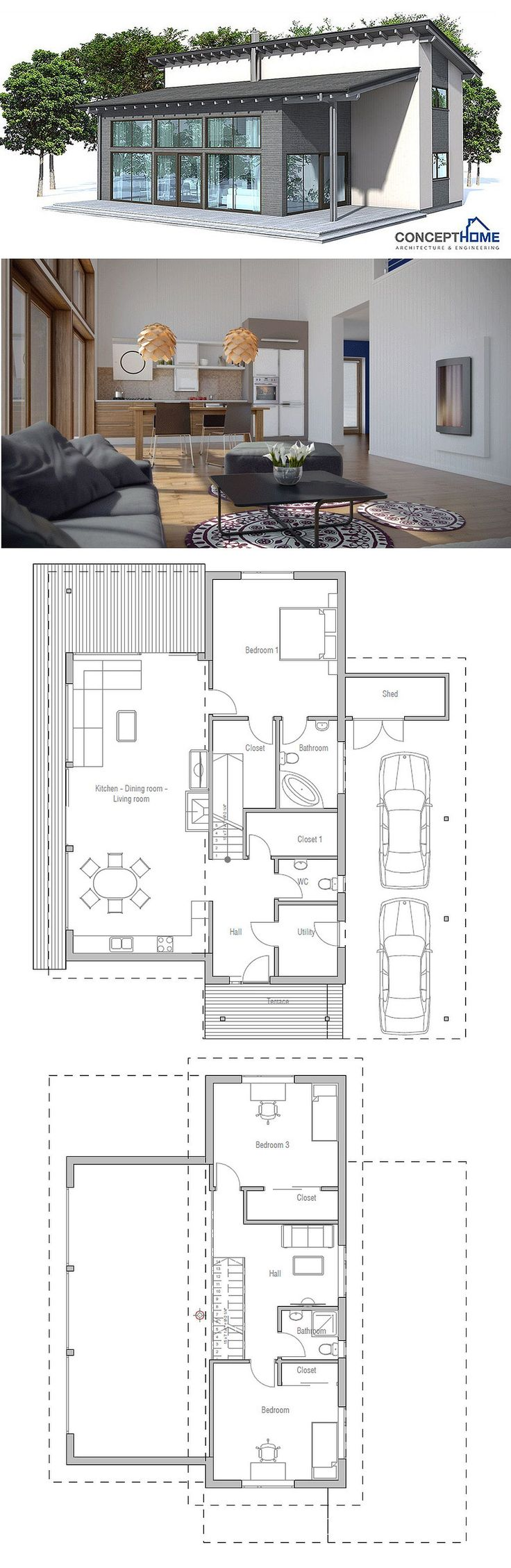 Small House Plans With 3 Car Garage Small Modern Cabin House Plans Modern House Design