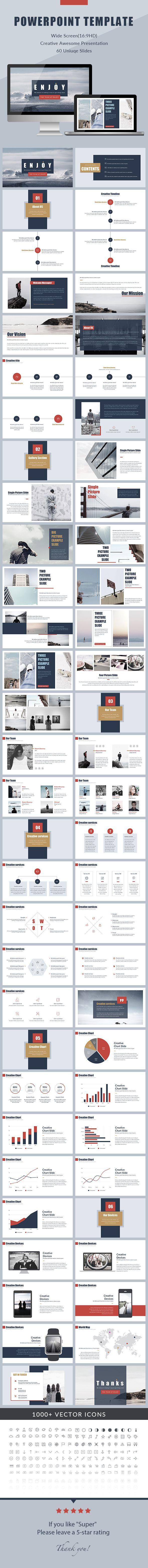 #Enjoy - Minimal PowerPoint Presentation - Creative #PowerPoint #Templates Download here:  https://graphicriver.net/item/enjoy-minimal-powerpoint-presentation/18132196?ref=suz_562geid