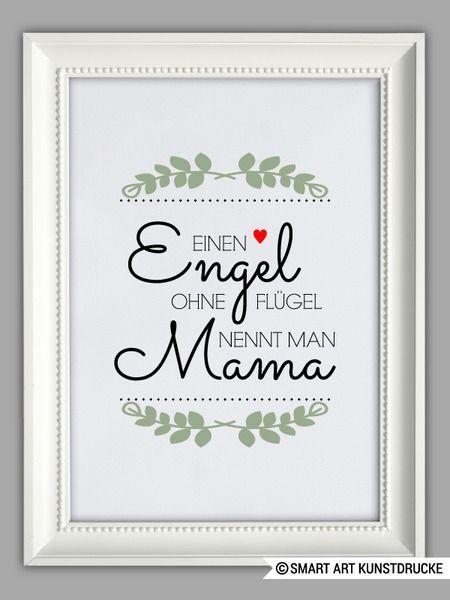 """""""ENGEL MAMA"""" Kunstdruck, Muttertag Geschenk von Smart-Art Kunstdrucke auf DaWanda.com"""