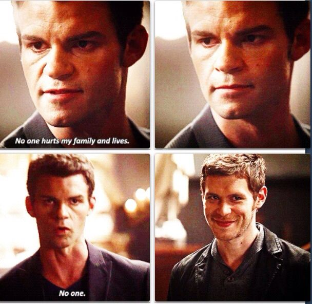 "Loved this scene in #TheOriginals with Elijah and Klaus | ""Nobody hurts my family and gets away with it. Nobody."""