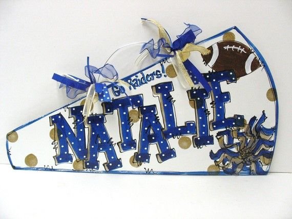 Personalized Cheer Megaphone by TWOPINKDOTS on Etsy, $18.00