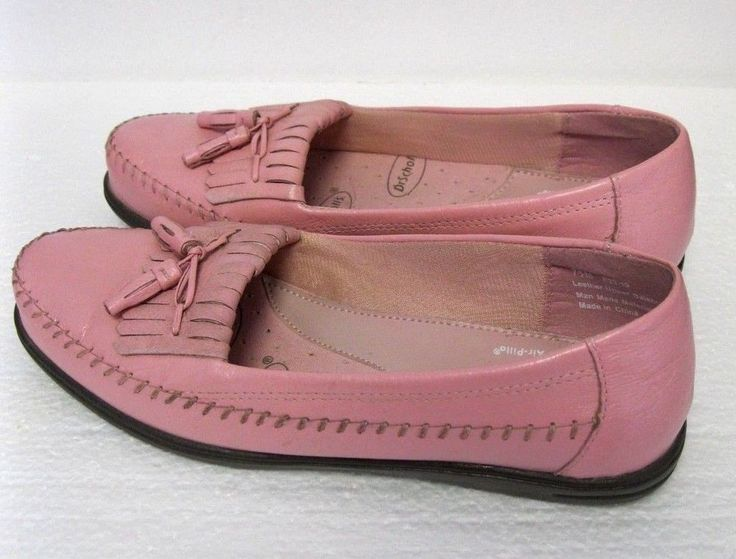 Women's Slip On Penny Loafers Dr. Scholl's Air Pillow  Size 7.5 M  Pink Leather #DrScholls #PennyLoafers #Casual