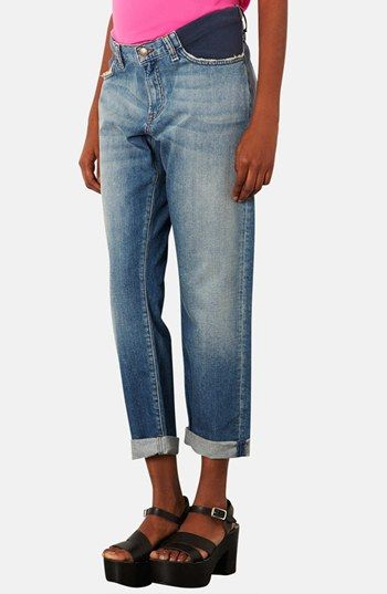 Topshop Maternity Boyfriend Jeans available at #Nordstrom