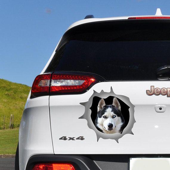 Husky Decal Dog Car Decal Car Bumper Sticker Bumper Sticker