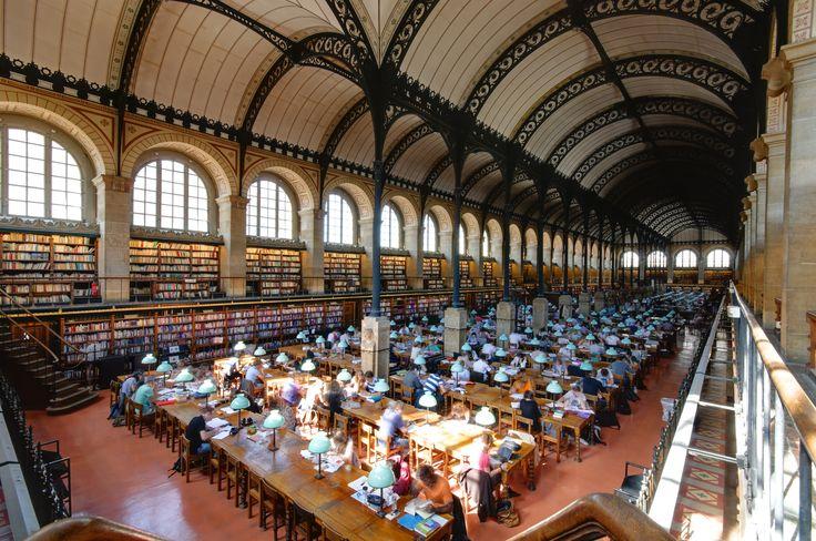 RENAISSANCE REVIVAL~ Henri Labrouste, reading room of the Bibliothèque Sainte-Geneviève, Paris, France, 1843-1850