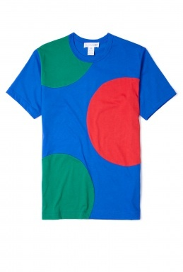 Cobalt Oversized Spot T-Shirt by Comme des Garcons Shirt