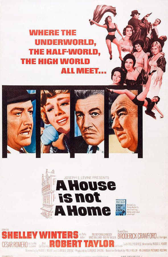 A House Is Not A Home 1964 Robert Taylor Dvd Shelley Winters