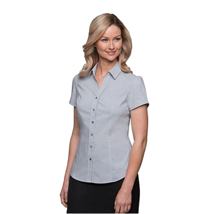 City Collection Stretch Pinfeather Cap Sleeve Shirt – 2266