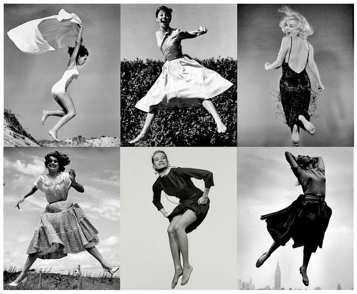 Sirens jumping...  Janet Leigh, Audrey Hepburn, Marilyn Monroe, Sophia Loren, Grace Kelly, Eva Marie Saint