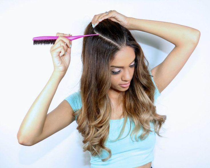 Einfache und schnelle Frisuren, einige Tricks, um schmutziges und formloses Haar zu verstecken