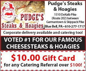 Refer a customer to #Pudges for #catering and receive a $10 gift card. #hoagies #steaks #salads #delivery