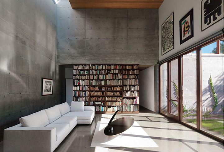 Vue du séjour / Living room area view.  Henri Cleinge Architectes - Résidence Beaumont / Beaumont Residence  © Marc Cramer