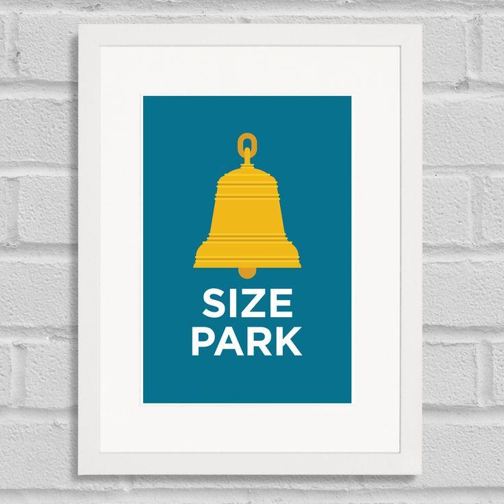 Pate Belsize Park Neighbourhood Pun Art Poster Print White Frame