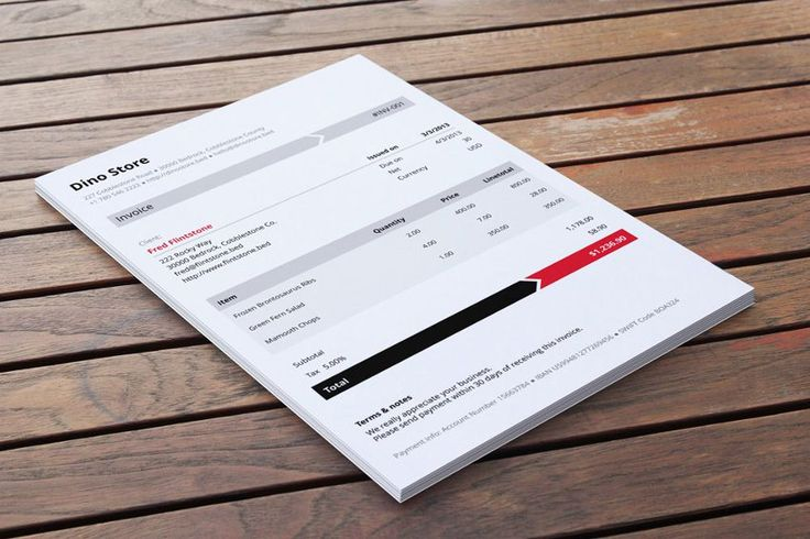 Armo invoice template by Invoicebus