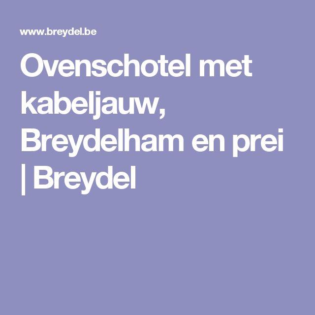 Ovenschotel met kabeljauw, Breydelham en prei   Breydel