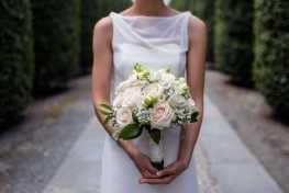 white Romantic Bouquet by Simmi Floral Design