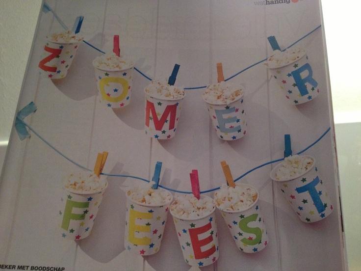 Verjaardagsfeestje vullen met give away