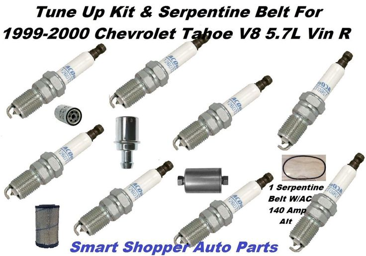 tune up serpentine belt for chevrolet tahoe 5 7l spark. Black Bedroom Furniture Sets. Home Design Ideas