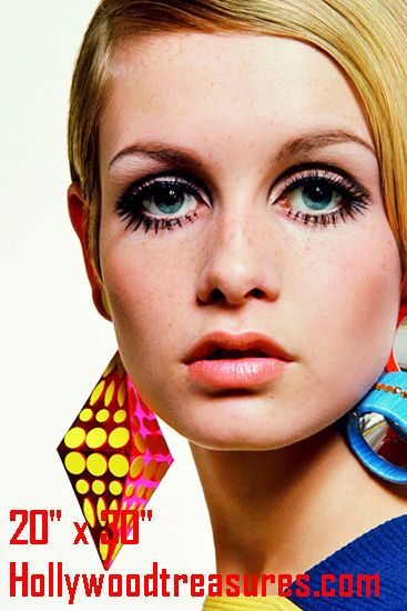 "Twiggy~Hair Salon~Spa~Barber~Photo~Mod~Retro~Color~Stylist~Poster~ 20"" x 30"" #Unbranded"